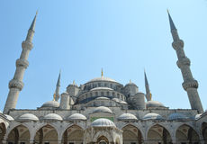 голубой индюк мечети istanbul стоковое фото rf