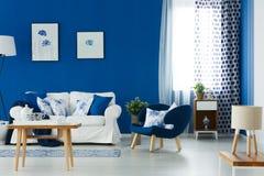 Голубой и белый салон Стоковые Изображения RF