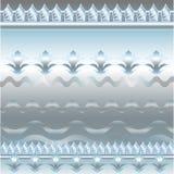 Голубой и серебряный цветочный узор Стоковые Фото