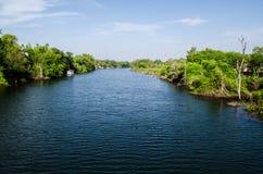 голубой канал Стоковая Фотография