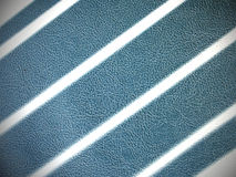 Голубой кожаный крупный план текстуры Стоковая Фотография RF