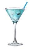 Голубой коктеил в высоком стекле Стоковое Изображение