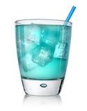 Голубой коктеил в стекле   Стоковое Изображение RF