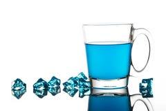 Голубой коктеил в стекле Стоковое фото RF