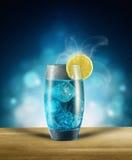 Голубой коктеил в стекле Стоковая Фотография RF