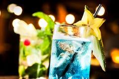 Голубой коктеил Стоковое Изображение