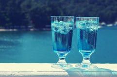 голубой коктеил curacao Стоковая Фотография