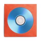 Голубой КОМПАКТНЫЙ ДИСК с случаем Стоковое Изображение RF