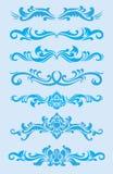 Голубой комплект орнамента Стоковые Фотографии RF
