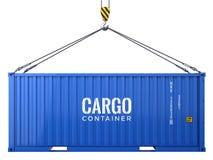 Голубой контейнер для перевозок перевозки груза изолированный на белой предпосылке бесплатная иллюстрация