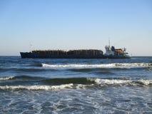голубой корабль моря Стоковые Изображения