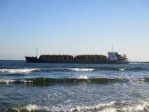 голубой корабль моря Стоковые Фотографии RF