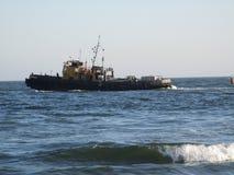 голубой корабль моря Стоковое Изображение