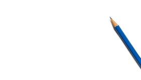 Голубой космос предпосылки карандаша Стоковые Фотографии RF