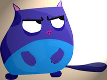голубой кот стоковое изображение rf