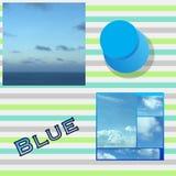 голубой коллаж Стоковое Изображение RF
