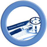Голубой круг логотипа дня диабета мира Стоковые Фото