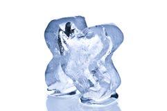 Голубой крупный план блока льда Стоковое Фото