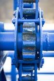 Голубой механизм Стоковые Изображения