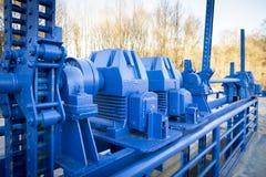 Голубой механизм Стоковое Изображение RF