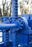 Голубой механизм Стоковое Изображение