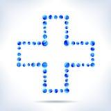 Голубой медицинский крест иллюстрация штока