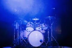 голубой набор барабанчика Стоковые Изображения