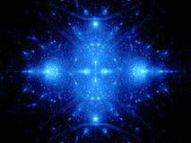 Голубой накаляя орнамент в космосе Стоковое Изображение RF