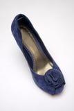 голубой накрененный высокий ботинок стоковое изображение rf