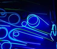 Голубой неон Стоковые Изображения