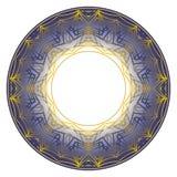 Голубой орнамент плиты Стоковое Фото