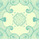 Голубой орнамент Стоковые Фото