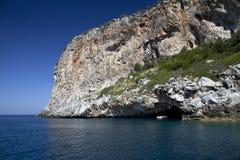 Голубой остров Dino пещеры   Прая конематка Италия Стоковые Фотографии RF