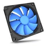 Голубой охладитель с вентилятором для ПК Стоковое Изображение RF