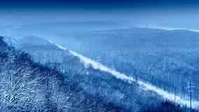 Голубой парк победы ландшафта зимы Стоковые Фото