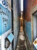 Голубой переулок Стоковая Фотография