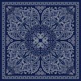 Голубой пестрый платок Стоковые Фотографии RF