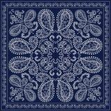 Голубой пестрый платок Стоковое фото RF