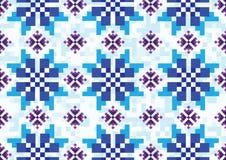 Голубой пиксел cornflowers иллюстрация штока