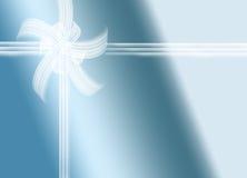 Голубой подарок Стоковые Изображения