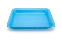Голубой поднос еды Стоковая Фотография