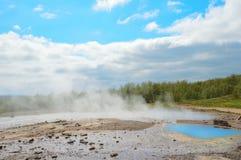 голубой пруд Стоковая Фотография RF