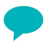 голубой пузырь переговора Стоковые Фото