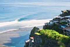 Голубой пункт и волны Стоковые Фотографии RF