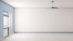 голубой пустой интерьер Стоковая Фотография