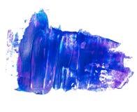 Голубой пятно текстурированное сиренью акриловое Стоковые Фотографии RF