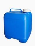Голубой пластичный галлон Стоковое Фото