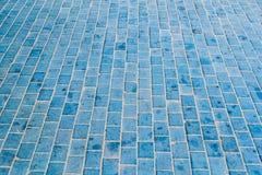 Голубой плиточный пол Стоковое Фото