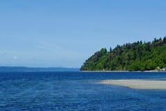 Голубой пляж Стоковое Изображение RF