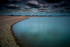 Голубой пляж Стоковые Изображения RF